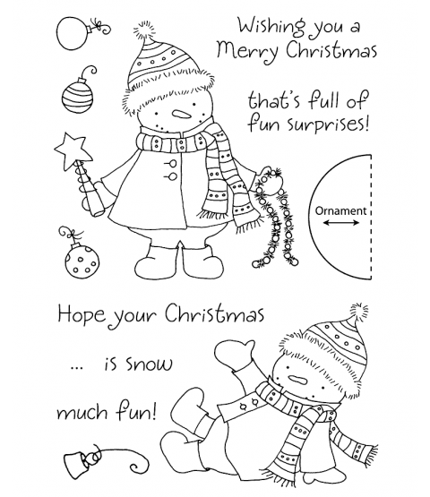 Tammy DeYoung Decorating Snowman Clear Stamp Set 11118MC