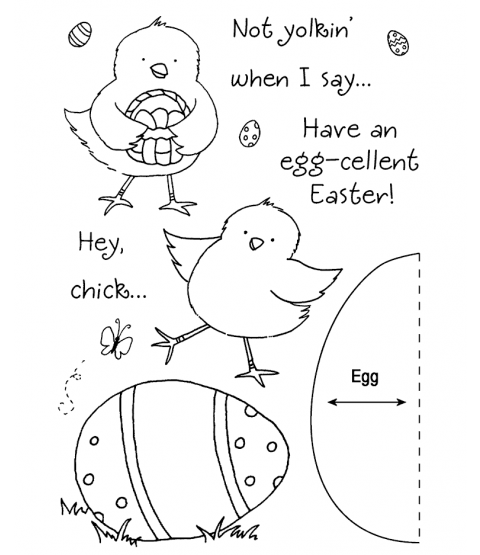 Tammy DeYoung Easter Chick Clear Stamp Set 11030MC