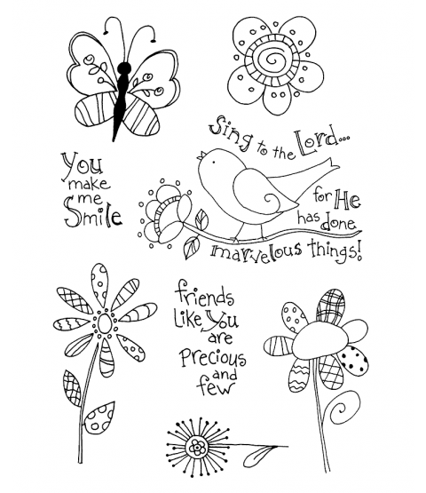 Tammy DeYoung Groovy Nature Clear Stamp Set 11093MC