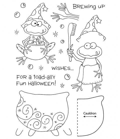 Tammy DeYoung Halloween Frog Clear Stamp Set 11051MC