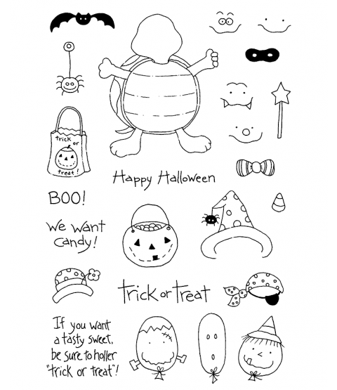 Tammy DeYoung Halloween Turtle Clear Stamp Set 10921MC
