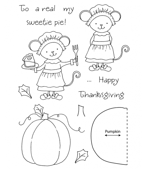 Tammy DeYoung Harvest Mouse Clear Stamp Set 11052MC