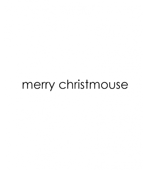 Tammy DeYoung Merry Christmouse Wood Mount Stamp D5-3280D
