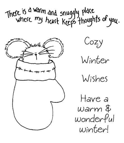 Tammy DeYoung Mitten Mouse Clear Stamp Set 11268SC