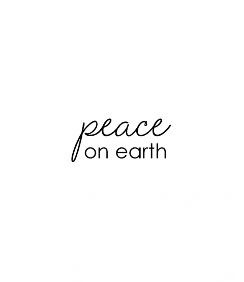 Tammy DeYoung Peace on Earth Wood Mount Stamp D7-0479D