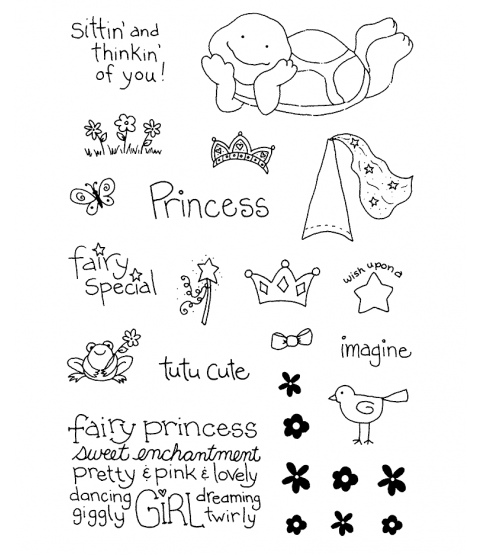 Tammy DeYoung Princess Turtle Clear Stamp Set 10935MC