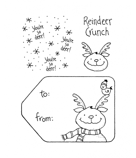 Tammy DeYoung Reindeer Crunch Clear Stamp Set 10941SC
