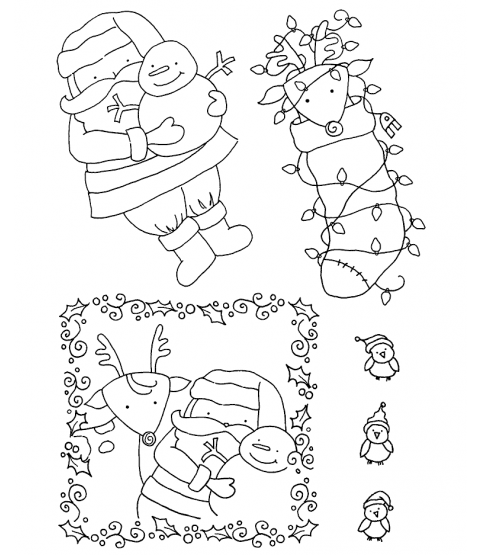 Tammy DeYoung Santa & Pals #2 Clear Stamp Set 11008MC