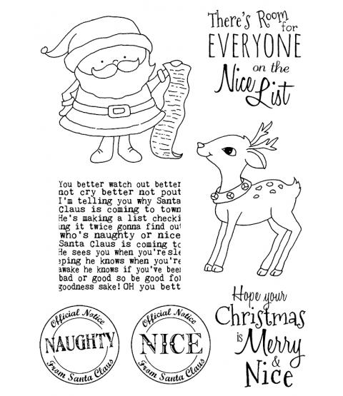 Tammy DeYoung Santa's List Clear Stamp Set 11190MC