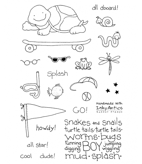 Tammy DeYoung Sporty Turtle Clear Stamp Set 10937MC