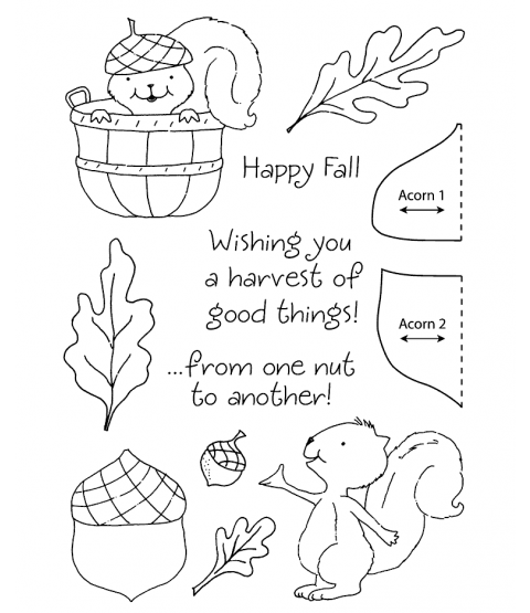 Tammy DeYoung Squirrel Clear Stamp Set 11117MC