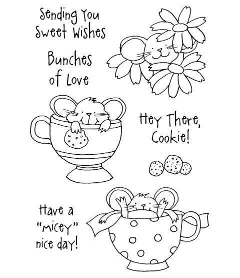 Tammy DeYoung Teacup Mousies #2 Clear Stamp Set 10953MC