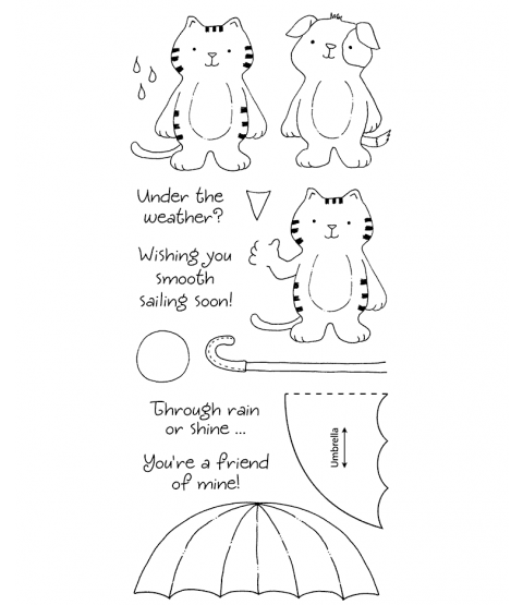 Tammy DeYoung Umbrella Friends Clear Stamp Set 11050LC