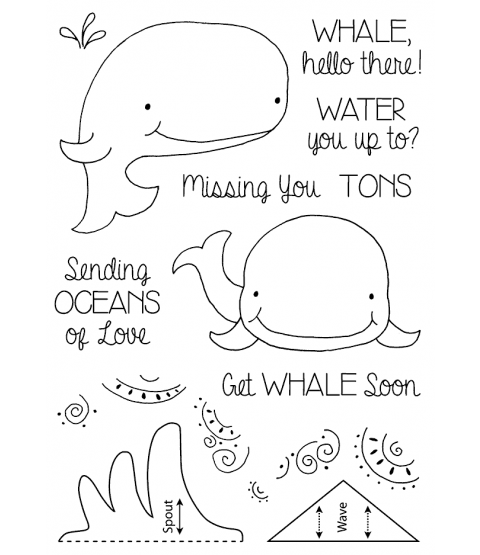 Tammy DeYoung Whale Clear Stamp Set 11218MC