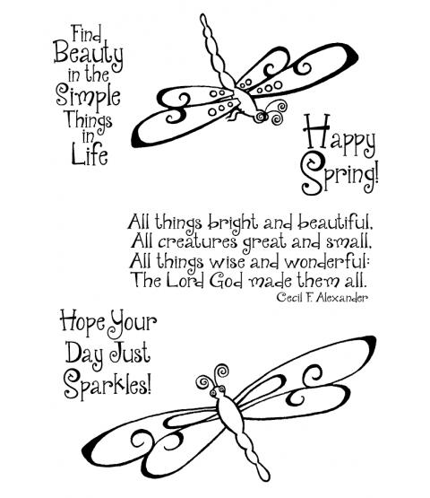 Trudy Sjolander Swirly Dragonflies Clear Stamp Set 11157MC