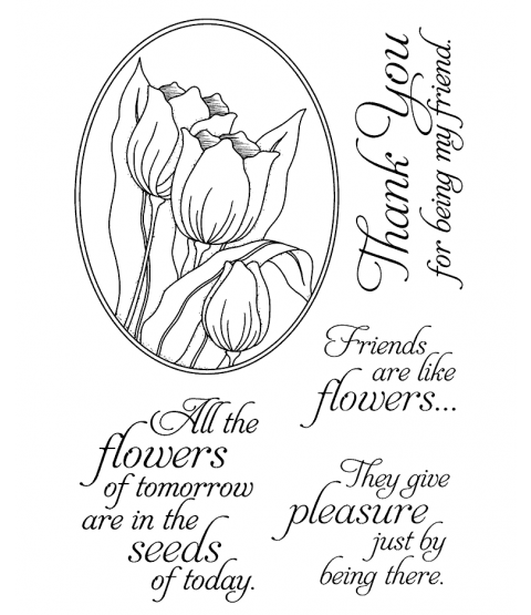 Tulip Oval Clear Stamp Set 11100MC