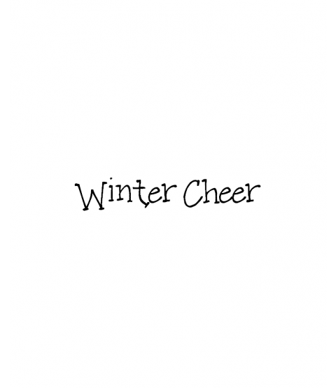 Janie Miller Winter Cheer Wood Mount Stamp D6-10481D