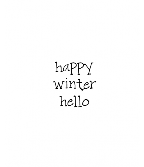 Janie Miller Winter Hello Wood Mount Stamp D3-10380D