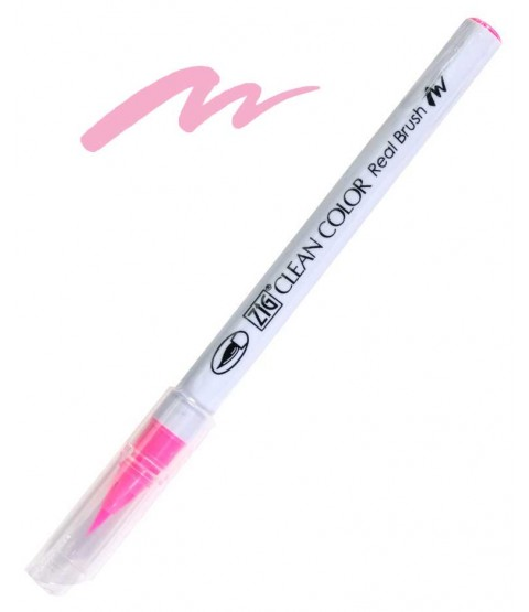 ZIG Clean Color Real Brush, Fluorescent Pink - RB6000AT-003