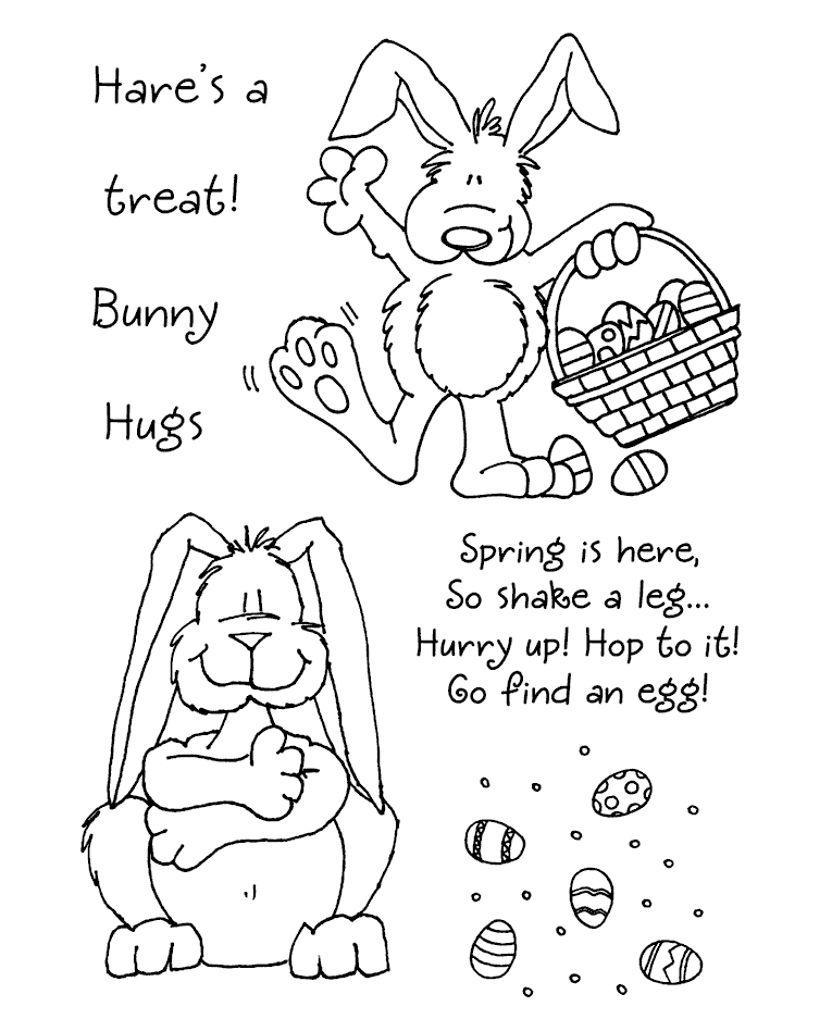 Janie Miller Bunny 2 Clear Stamp Set