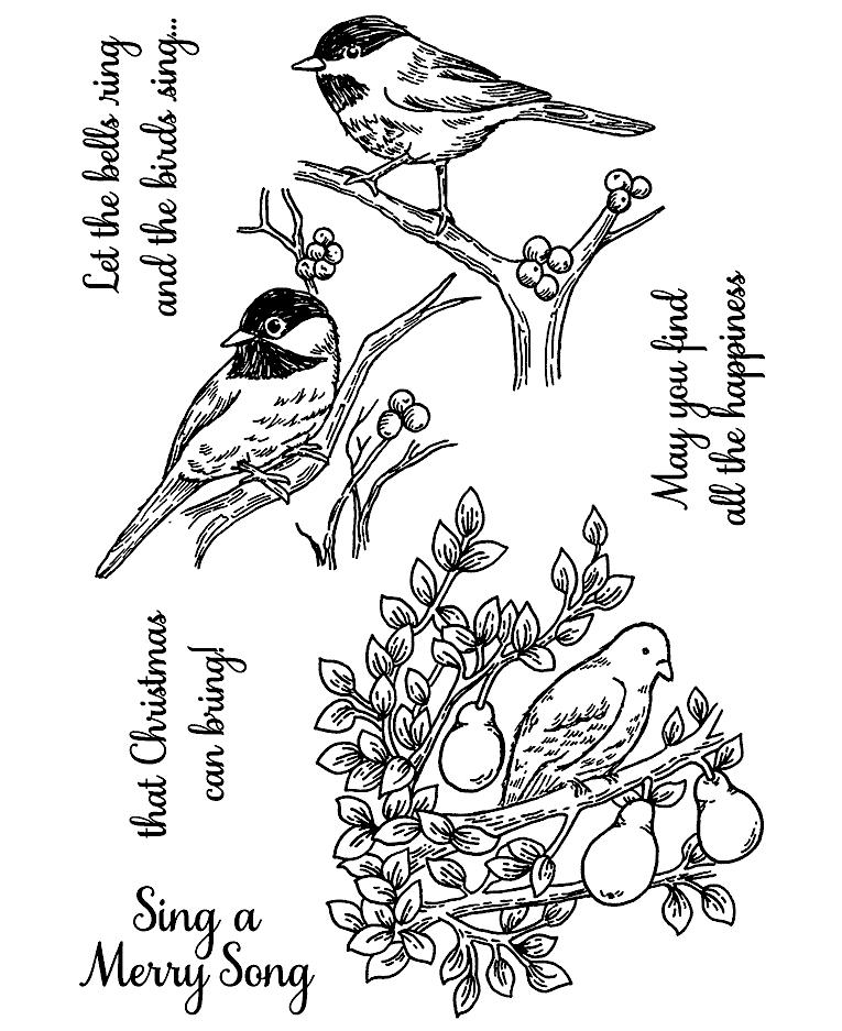 Christmas Birds Clear Stamp Set 11265mc