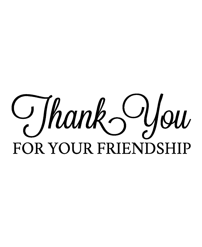 Friendship Thank You Wood Mount Stamp E2 6504e