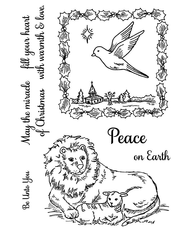 wishing peace clear stamp set 11263mc