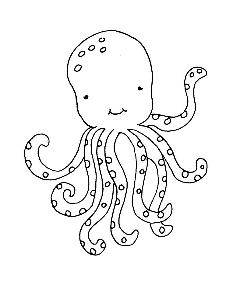 Octopus Wood Mount Stamp M5 5909J