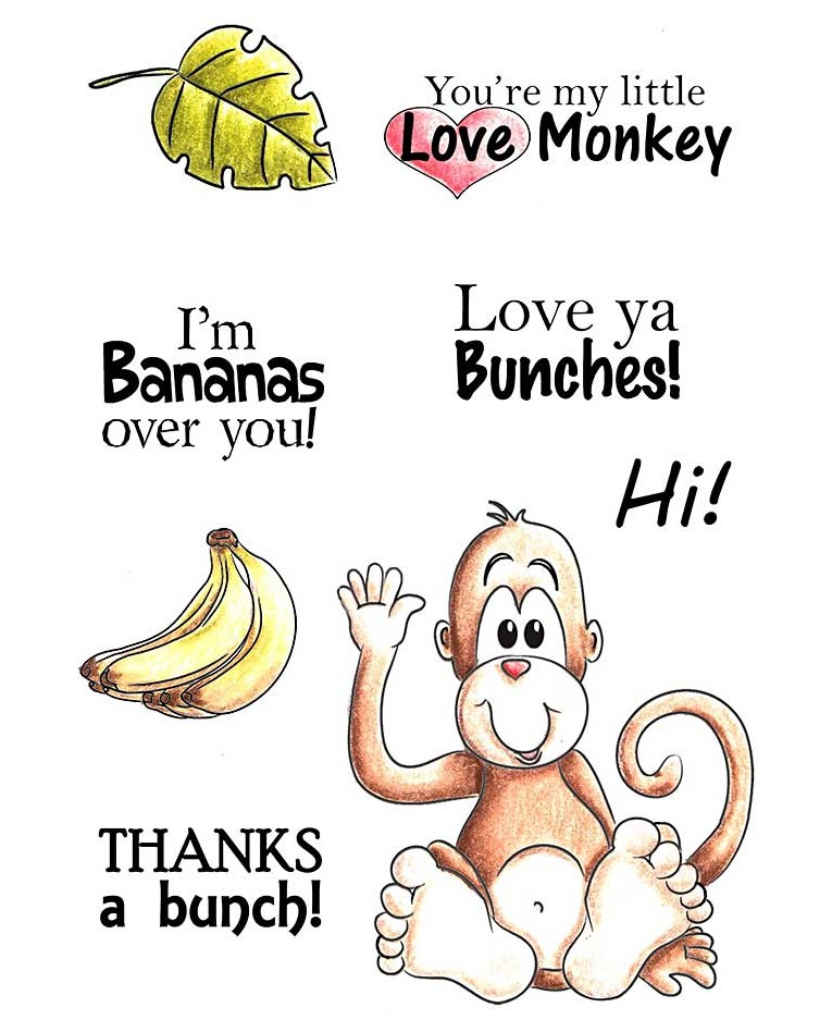 Love Monkey Clear Stamp Set 11228Mc-9256