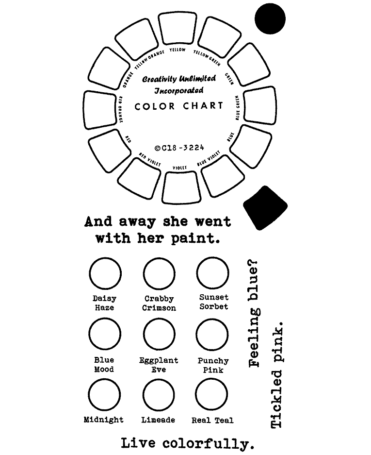 Color Wheel Clear Stamp Set 11428lc