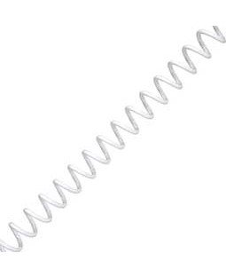 8mm Open Stock Plastic Coil, White