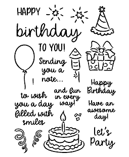 Birthday Smiles Clear Stamp Set - 11404MC