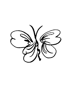 Brushed Butterfly Wood Mount Stamp E1-15245F