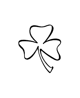 Brushed Shamrock Wood Mount Stamp G1-60056E
