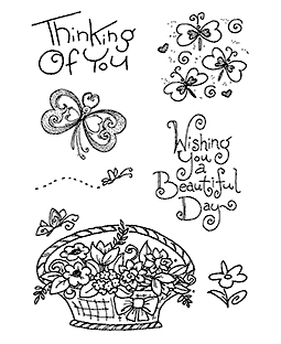 Butterfly Thoughts Clear Stamp Set 11293MC