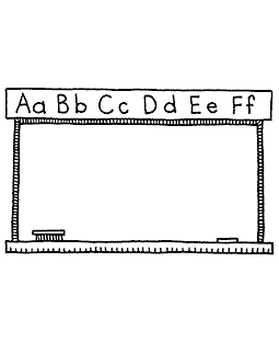 Chalkboard Wood Mount Stamp M1-22013K