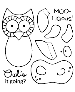 Cow & Owl Maker Clear Stamp Set 11039SC