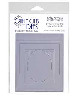 Crafty Cutts Die: Framed Oval Pop Up IAD-011