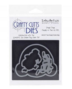 Crafty Cutts Die: Ice Cream Cone Dog IAD-017