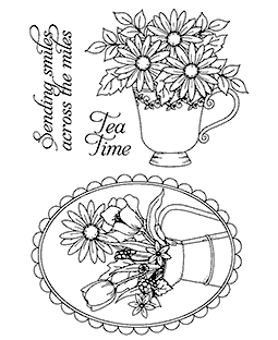 Daisy Bouquets Clear Stamp Set 11096MC