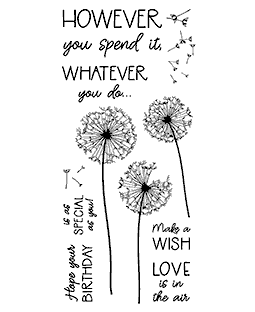 Dandelion Birthday Clear Stamp Set - 11401LC