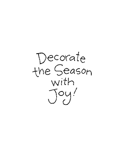 Decorate The Season Wood Mount Stamp D1-10523D