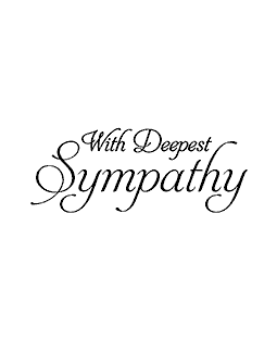 Deepest Sympathy Wood Mount Stamp E2-0242E