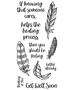 Feather Healing Clear Stamp Set - 11407LC