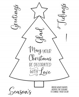 Christmas Tree Clear Stamp Set: 11472MC
