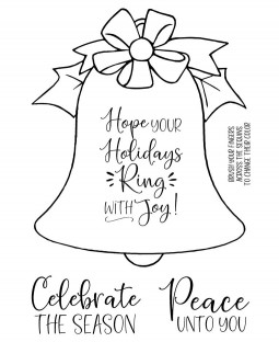 Holiday Bell Clear Stamp Set: 11471MC