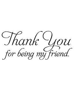 Friend Thank You Wood Mount Stamp J5-2837G