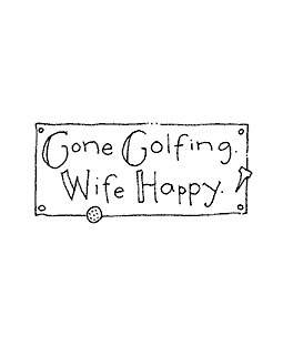 Gone Golfing Wood Mount Stamp E2-10575E