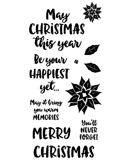 Happiest Christmas Clear Stamp Set 11386LC
