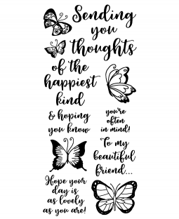 Happiest Thoughts Clear Stamp Set: 11400LC